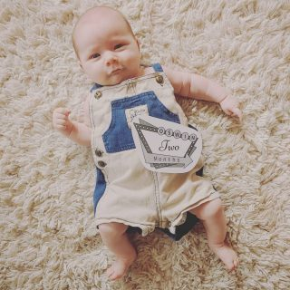 """Two Months!! ❤❤ Oswin has been our slowest to smile, but boy was it worth the wait!! He is just the sweetest thing. I can't believe the """"newborn"""" stage is already almost gone. I have been just soaking up every moment!"""